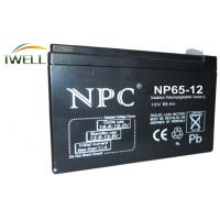 Wholesale Long Life Deep Cycle Battery 12V 65Ah for Fire Alarm / Security System from china suppliers