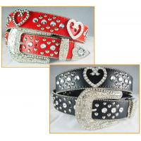 Wholesale heart concho belts with rhinestone manufactory price from china suppliers