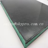 Wholesale Wear - Resisting 30mm Black + Green + Black Sandwich Skirting Rubber Sheet Panel from china suppliers