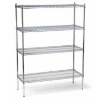 Wholesale Zinc Steel Commercial Wire Shelving Storage Rack 4 Shelf For Refrigerated Warehouse from china suppliers