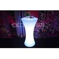 Wholesale Unfolding Light Up Portable Bar Led Cocktail Table PE Plastic Material from china suppliers