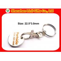 Wholesale Engraved customs metal keychains token holder keychain for marketing LL-HK1004281 from china suppliers