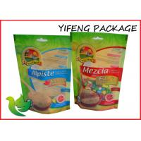 Wholesale Oil Proof Green Ziplock Stand Up Pouches Gravure Printing For Food from china suppliers