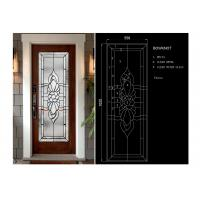 Buy cheap Arctic Patterned Window Door Suit Decorative Frosted Glass Brass / Nickel / Patina Available from wholesalers