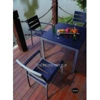 Wholesale Metal Polywood Patio Furniture Dining Sets Balcony Table And Chairs For Home from china suppliers