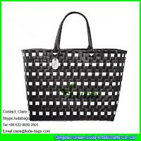 Wholesale LDSL-027 mixed color beach totes women shopping bag pp strap woven straw tote bag from china suppliers