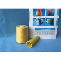 Quality White / Yellow 100% Polyester Raw Single / Double Twist Yarn for Sewing Garment for sale