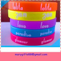 Buy cheap stylish factory sale silicone wrist band from wholesalers