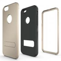 Wholesale For Iphone 6 Plus Case Armor 2 in 1 Case Built-in Kickstand Factory Price OEM Logo from china suppliers