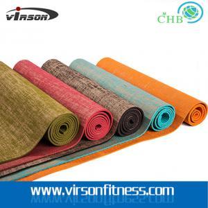 Wholesale Virson  eco jute cloth pvc yoga mat.chepst gym/fitness yoga mat. pvc yoga mat from china suppliers