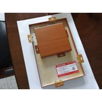 Buy cheap Customized Home Decoration 3mm Wood Grain Aluminum Panel from wholesalers