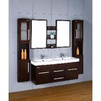 Wholesale Wooden Double Sink Wall Mounted Bathroom Vanities (D1108) from china suppliers