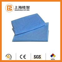 Wholesale Blue Wave Printed Foam Bonding Viscose Rayon Nonwoven Wiping Cloth for Home / Hotel from china suppliers