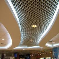Wholesale 100mm*100mm Aluminum Grid Ceiling Tile for Interior Decoration from china suppliers