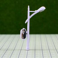 Wholesale 6V Billboard Street Plastic Scale Model Lamp Posts for Train Layout 5cm from china suppliers