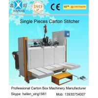 Wholesale Servo System Single Piece Carton Box Stapler Machine With Speed 450 Nails / Min from china suppliers