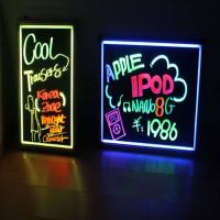 Wholesale 400x600mm black aluminum base acrylic led writing board from china suppliers