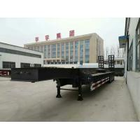 Wholesale 3 Axle Lowbed Semi Trailer , Low Flatbed Trailer With Air Suspension System from china suppliers