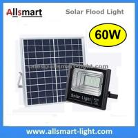 Wholesale 60W Solar Flood Lights Outdoor Remote Control Battery LED Light With Solar Panel for Garden Patio Street Parking Lot from china suppliers