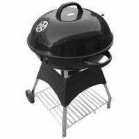 Wholesale 22.5-inch Deluxe/Kettle Charcoal/Trolley BBQ Grill for Sale, 0.7mm Thickness from china suppliers