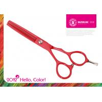Wholesale Red Teflon Coating SUS 420J2 Stainless Steel Professional Hairdressing Scissors from china suppliers