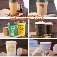 Wholesale natural coffee cup,printed paper cup,tea cup and saucer, New Style Custome Printed Double Wall Paper Coffee Cups with Li from china suppliers