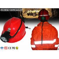 Wholesale High Power Miners Cap Lamp With Rear Warning Light 15000 Lux Brightness from china suppliers