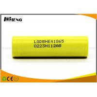 Wholesale LG HE4 Yellow lithium rechargeable batteries 3.7V Over 500 Times from china suppliers