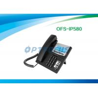 Wholesale CE POE IP Phone , 3 Way SIP Phone Service HD handset 802.3af 128x48 Backlight from china suppliers