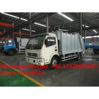 Buy cheap HOT SALE! 2018s best seller-dongfeng 4*2 LHD 7m3 compression garbage compactor truck, garbage truck for Mongolia from wholesalers