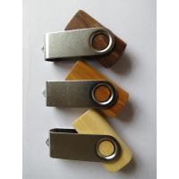 Wholesale 4GB 8GB Swivel Wooden USB Drive , Custom Logo Wood Flash Drive from china suppliers