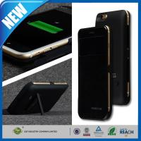 Wholesale 4800mAh Flip Leather Power Bank Backup Cell Phone Battery Case Stand For 4.7 Iphone 6 from china suppliers