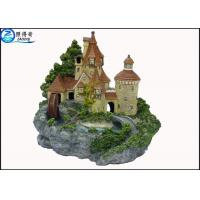 Wholesale Luxury Castle Aquarium Resin Ornaments With Landscaping Rockery And Waterwheel from china suppliers