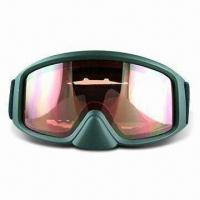 Wholesale Ski Goggles with TPU Soft Frame and Anti-fog Double Layer Polycarbonate Lens from china suppliers