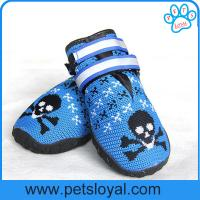Quality Breathable Dog Shoes Soft Knitting Paw Protector with Reflective Velcro China Manufacturer for sale