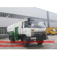 Wholesale Factory sale cheaper price Dongfeng 4*2 LHD side loader garbage truck, HOT SALE! good price wastes collecting vehicle from china suppliers
