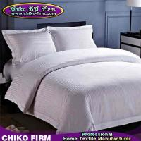 Wholesale Stripes Design 250TC-330TC Customized Hotel Duvet Cover Bed Sheet Bedding Sets from china suppliers
