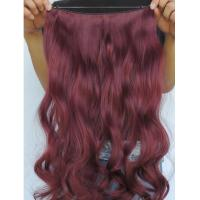 Wholesale Silky Korea Clip In Synthetic Hair Extensions Heat Resistant Natural Looking from china suppliers