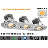 Wholesale High Brightness LED Recessed Downlight Triple - Head 30 Degree Tilt Energy Saving from china suppliers