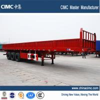 Wholesale 3 Axles Flat Bed Semitrailer with removable side walls from china suppliers