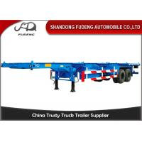 Wholesale Two Axle 8 Tires 30 Ton 40 Feet Chassis Container Trailer Skeletal Semi Trailer from china suppliers