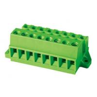 Wholesale 320V 12A Screw Connecting Pluggable Terminal Block with fixing flange , Wire Range 0.2 - 2.5 mm2 from china suppliers