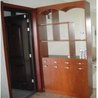 Wholesale Classic Red Wood Furniture Display Cabinet With Glass Doors Scratch Resistant from china suppliers