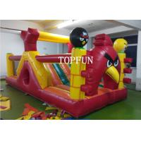 Wholesale OEM 0.55 mm PVC Tarpaulin Inflatable Angry Bird Bouncy Castle Strong Sewing from china suppliers