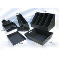 Quality Black Plastic Packing Gift Boxes Handmade With Logo Hot Stamping for sale