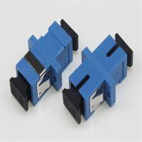 Wholesale Ftth Plastic Sc Fiber Optic Adapter , Upc Fiber Optic Adaptors Blue Color from china suppliers