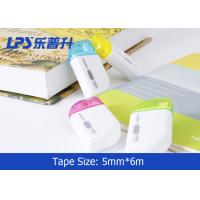 Quality Portable Mini colored correction tape 6M Student Correction Supplies for sale
