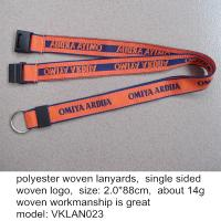 Custom made woven lanyards manufacturer China