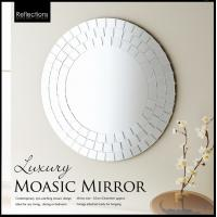 Quality Square Mosaic Mirror Round Decorative Mirror Art Wall Mirror Frame Mirror 65*65cm for sale