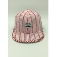 Wholesale Girls Stress Mesh Snapback Caps / Pink Snapback Hats Sports Casual Striped from china suppliers